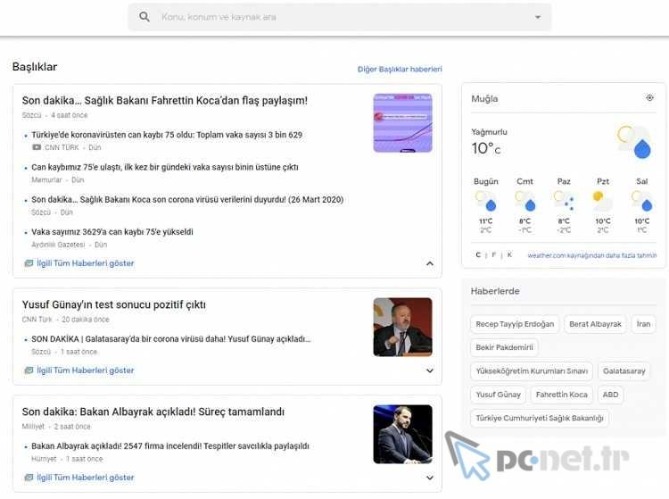 Google News Başlıkları